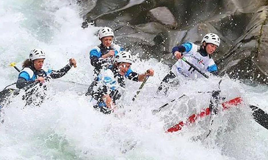 Rafting sul fiume Adda in Valtellina