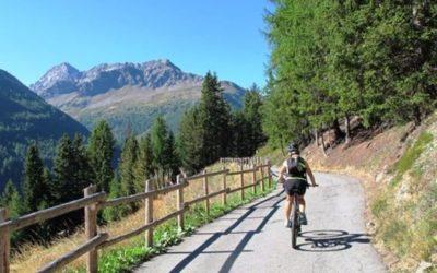 Percorsi ciclabili in Valtellina